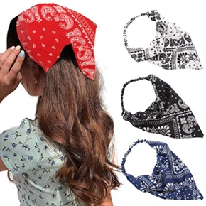 Bohemian Triangle Headband Prints Triangle Bandanas Elastic Hair Bands Rubber Band Women Turban Girls Hair Accessories