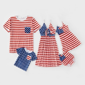 Mosaic Independence Day Stripe and Stars Family Matching Sets