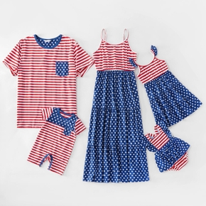 Mosaic Independence Day Stripe and Stars Matching Sets