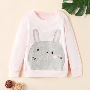 Adorable Animal Bunny Decor Sweatershirt for Girl