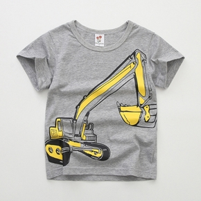 Stylish Cartoon Digger Print Tee