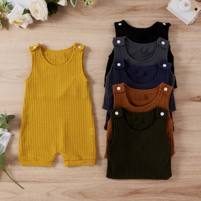 Baby Solid Casual Romper