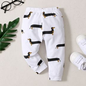 1pc Baby Boy  full print Print Cotton Spring Summer More Festivals Pants Casual Pants & Sweatpants & Harem Pants
