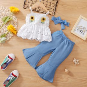 3pcs Sunflower Embroidered Baby Sling Set