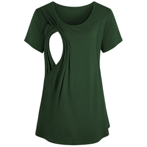 Pretty Short-sleeve Nursing Tee