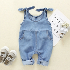 Baby / Toddler Boy / Girl Denim Suspender Jumpsuit