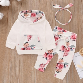 3pcs Baby Unisex casual Floral Baby's Sets