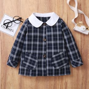 Baby / Toddler Girl Preppy style Plaid Coat