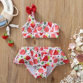 2pcs Baby Girl Strawberry Swimsuits