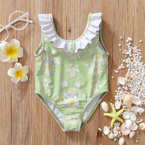 1pc Baby Girl Chrysanthemum Cute Summer Swimwear