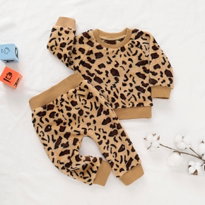 Baby Stylish Leopard Print Top and Pants Set