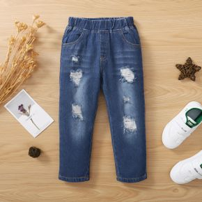 Toddler Girl/Boy Ripped Jeans Denim Pants with Pocket