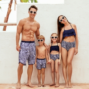 Mosaic Shark Print Family Matching Swimwear Sets