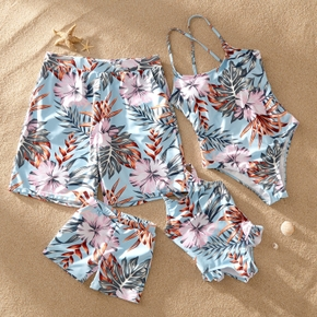 Floral Print Matching Swimsuits