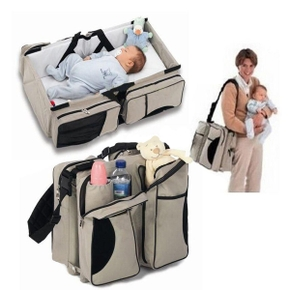 3-in-1 Universal Infant Travel Tote Bassinet Crib, Changing Station and Diaper Bag