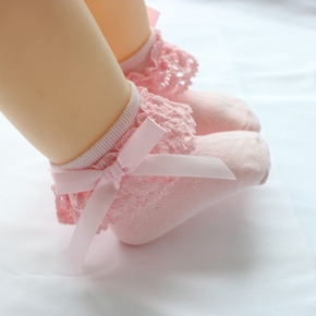 Baby / Toddler Girl Bow Decor Lace Design Socks