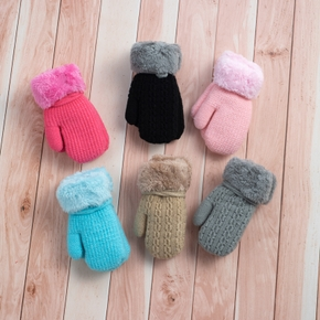 Baby / Toddler Solid Fleece Gloves