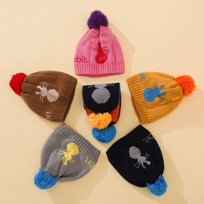 2-pack Baby / Toddler Pompon Fleece Hat and Scarf set