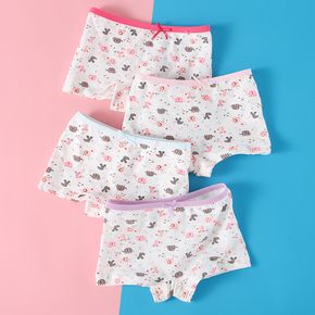4-Pack Baby / Toddler Girl Cutie Elephant Pattern Pantie Set