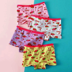 4-Pack Baby / Toddler Girl Cutie Strawberry Pattern Pantie Set