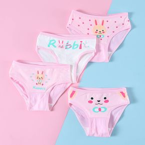 4pcs Baby / Toddler Cute Pink Rabbit Underwear