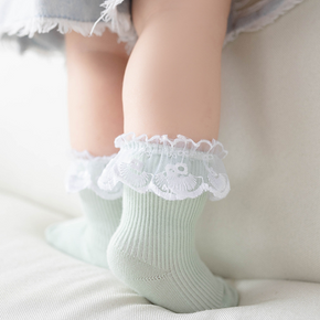 Baby / Toddler Solid Flounced Socks