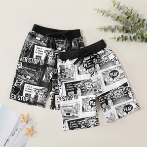 Fashionable Letter Allover Beach Shorts