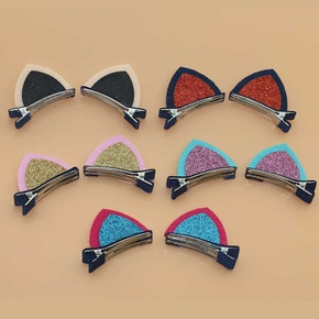 1-pair Cat Sequined Hairpins for Girls