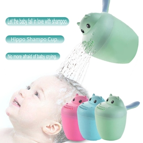1 pc Cartoon Cute Baby Shampoo cup Kid Spoon Shower Bath Water Watering Bottle Todder Wash Hair Shampoo Cup