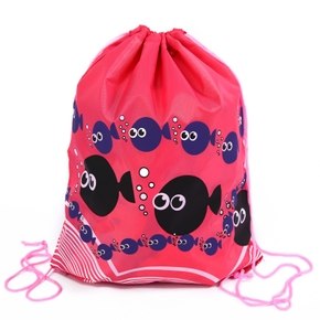 Marine Print Outdoor Sports Drawstring Bag for Toddlers / Kids