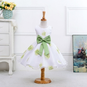 1-pc Baby Girl casual Sleeveless  Floral Costumes & Formal Dresses & Tuxedos