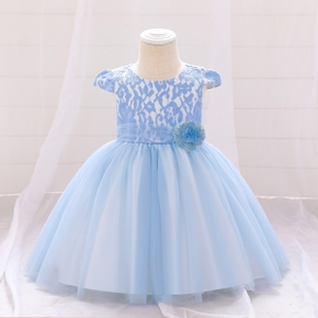Baby / Toddler Lace Mesh Sleeveless Party Dress
