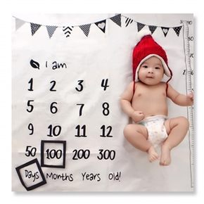 Banner Print Baby Milestone Blanket Photography Background Prop(not Include Photo Frames)