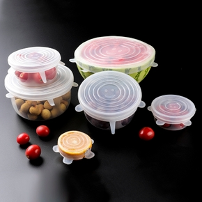 6 Pcs Transparent Silicone Preservative Covers