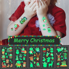 5-pcs Christmas Tattoo Stickers Party Decoration New Year Decor Kid Gift