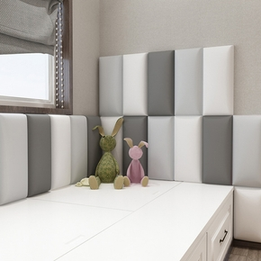 Thickened Self-adhesive Headboard Children's Room Anti-collision Wall Paste Tatami Soft Bag Bedside Anti-collision Pad