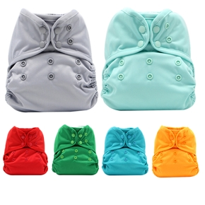 Asenappy Solid Color Cloth Diaper Cover Waterproof Baby Washable Diapers Reusable Cloth Nappies Fit