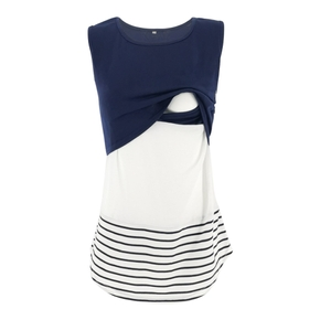 Trendy Striped Maternity Nursing Top