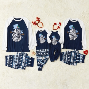 Christmas ' Let it snow ' Snowflake Family Matching Pajamas Sets (Flame Resistant)