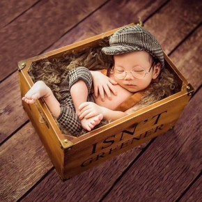 Baby Photography Props Cap Hat and Overalls Set