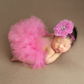 2-pcs Newborn Baby Photograpghy Prop Kids Bubble Rabbit Skirt Headband Children Infant Clothes Photograpghy Accessories