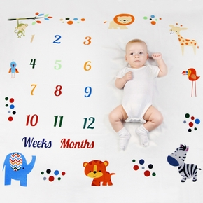 Animal Newborn Infant Photo Background Monthly Growth Cloth Cute Baby Trendy Blanket