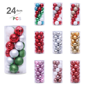 24-pcs multicolor Jingle Bells Christmas Bell Beads Crafts Decoration Accessories