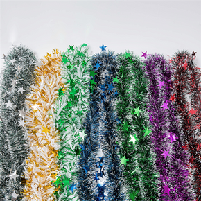 2-Piece Garland Omament Bar Christmas Tree Decoration for Outdoor Party Supplies Wedding Festival Birthday Decorations