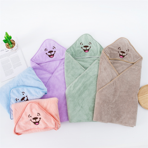 Cartoon Hooded Animal Baby Bathrobe Cotton Baby Spa Towel kids bath robe infant beach towels