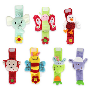 Baby Adorable Animal Velcro Closure Rattle Toys Wrist Band