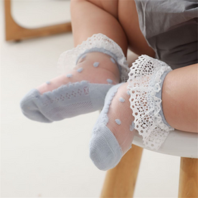 Baby / Toddler Lace Flounced Polka Dots Breathable Socks