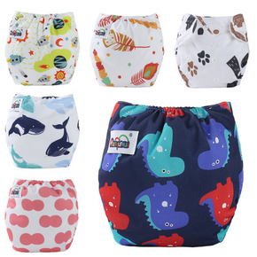 Printing Refreshing Baby Washable Adjustable Cloth Diaper Waterproof Breathable Eco-friendly Diaper