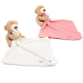 Bear Design Baby Security Blanket