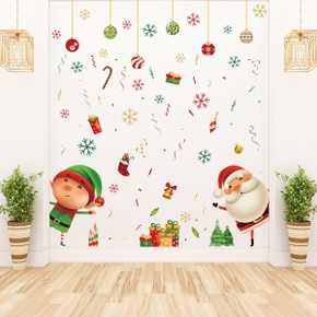 Christmas Cute Santa Wall Decor